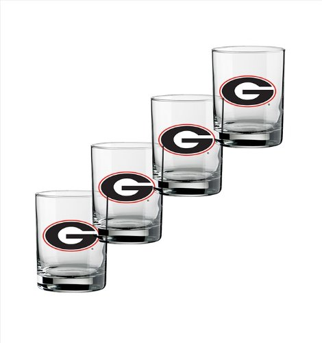 ncaa-georgia-bulldogs-set-of-4-double-old-fashioned-glasses-14-ounce