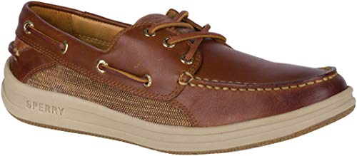 Sperry Mens Gold Gamefish 3-Eye Boat Shoe, Brown, 11 (Bay Gold Sperry)