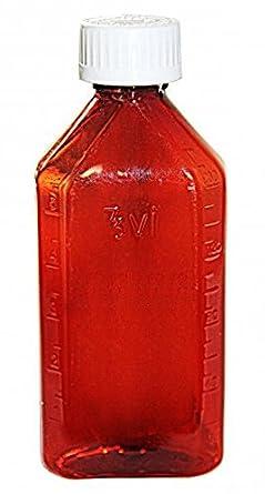 Oval Plastic Bottles 12 pcs AmexDrug Corp AMEXBOTT012AC0012 12oz Amber CR caps