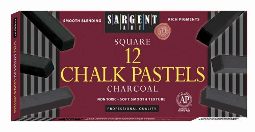 (Sargent Art 22-4115 12-Count Charcoal Square)