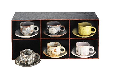 Six guest aligned Mino Takumi attractive nonvitreous handmade coffee (japan import)