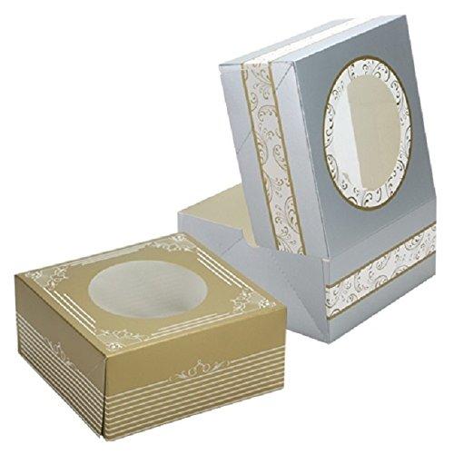- Hanna K Signature Elements Decorative Paper Bakeware Gold Cookie Boxes 5 Count