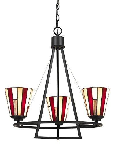 /3 3-Light Hardwire Ceiling Mount Chandelier, Dark Bronze (Cal Lighting Mission Floor Lamp)