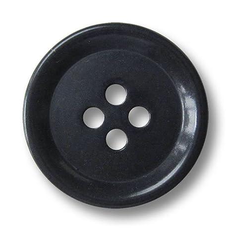 - 15er Set zeitlose Vierlochdesign 5825db gew/ölbter Rand // Durchmesser: ca 20mm klassische Kunststoffkn/öpfe in dunkelblau fast schwarz