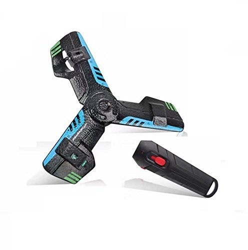Price comparison product image 360 Hoverblade Remote Control UFO Boomerang, OWIKAR Rechargeable Flying Saucer Boomerang with Flash Light, Delta Wing Aircraft Flying Drones Toy for Kids Teens Girls Boys (Blue)