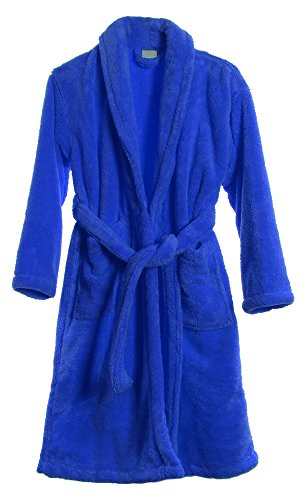 Kids Plush Shawl Robe Soft Fleece Bathrobe Made in Turkey