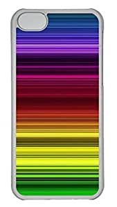 Apple iPhone 5C Case - Rainbow Color Line Funny Lovely Best Cool Customize iPhone 5C Cover