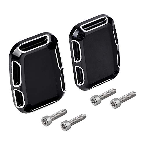 1 Pair Edge Cutting Front Clutch & Brake Master Cylinder Covers Set Compatible with Harley VRSCX 2007 V Rod Muscle VRSCF 2010-2017 VRSCF 2009 VRSCAW 2008-2009 VRSCAW 2007 ()