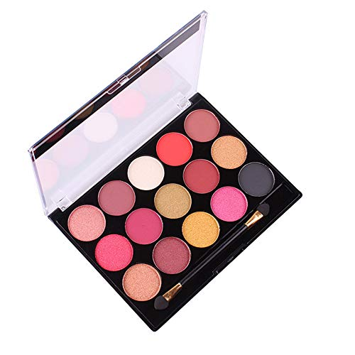 Lavany 15 Colors Eyeshadow Palette,Pearlescent Matte Shimmer Eye Shadow Powder Palette Makeup tools Eyeshadow Palette for Party (B)