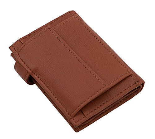 leather cowhide Wallet KATANA Wallet 753196 Brown KATANA BRXqH7w