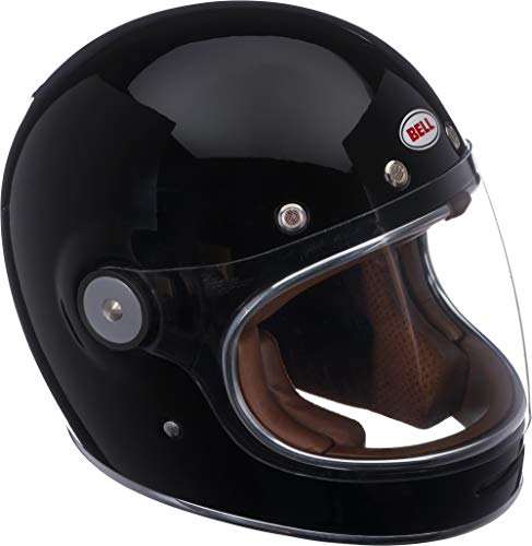 (Bell Bullitt Full-Face Motorcycle Helmet (Solid Gloss Black, Medium))