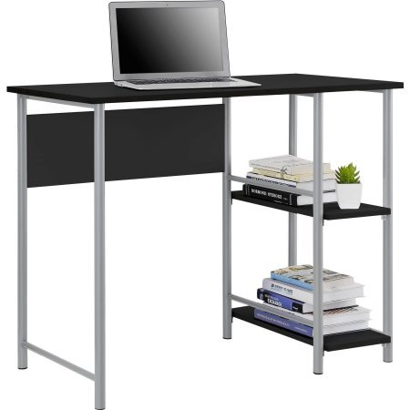 Mainstays Basic Student Desk Black And Silver Furniture