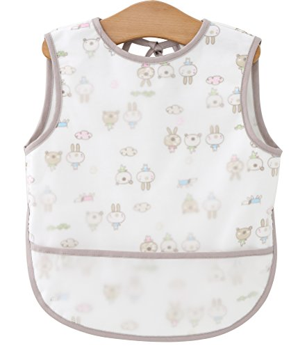F&C Toddler Baby Apron Waterproof Sleeveless Bib with Pocket (Animal, M(Height:85-105CM))