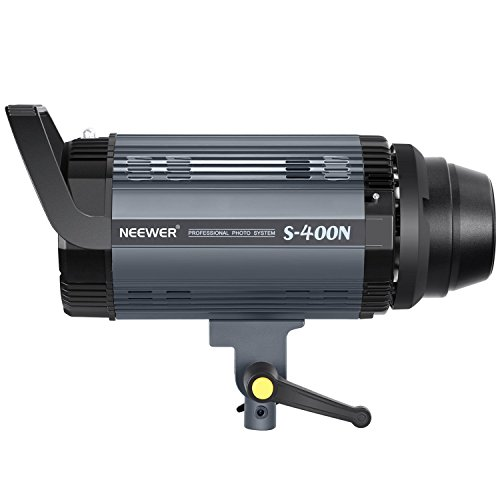Neewer Professional Studio Flash Strobe Light Monolight - 400W GN.60 5600K with Modeling Lamp, Aluminum Alloy Construction for Indoor Studio Location Model Photography and Portrait Photography(S400N) by Neewer