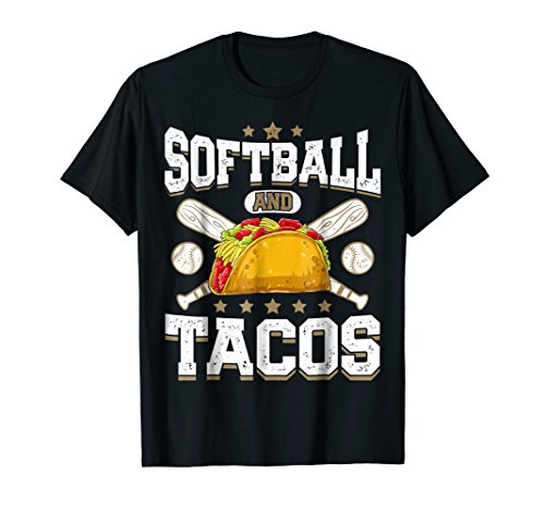 Softball And Tacos T shirt Girls Gifts Catcher Pitcher Women