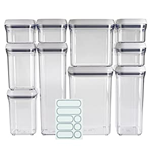 Awesome OXO Good Grips 10 Piece Airtight Food Storage POP Container Value Set With  10 Labels