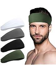 Sport Headbands for Men and Women - Mens Headband, Workout Sweatband Headband for Running, Yoga, Fitness, Gym - Performance Stretch/Lightweight
