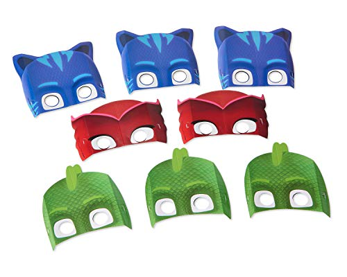 American Greetings PJ Masks Party Masks, 8-Count -