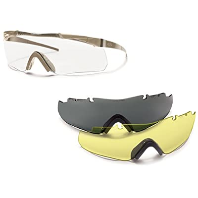 Smith Optics Elite Aegis Echo Asian Fit Eyeshields, Clear/Gray/Yellow, Tan 499