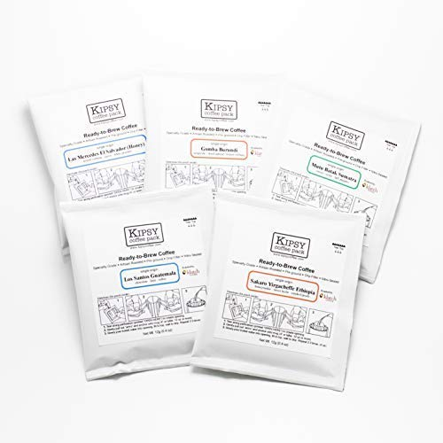 Kipsy x Klatch - Boutique Drip-Bag Coffee, Single-Use Portable Pourover, Specialty Coffee, Artisan Craft Roasters (10-packs) | KLATCH COFFEE Single Origin Variety