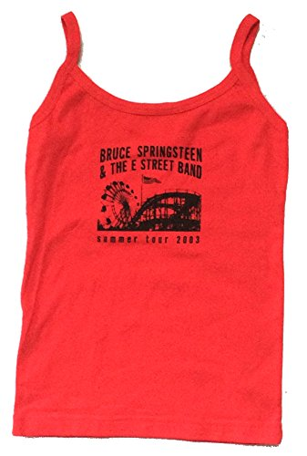 Bruce Springsteen E Street Band 2003 Juniors Camisole Red Shirt (L)