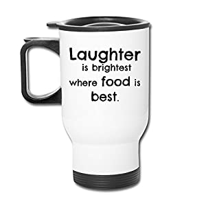 HNN Laughter Is Brightest Where Food Is Best Travel Mugs