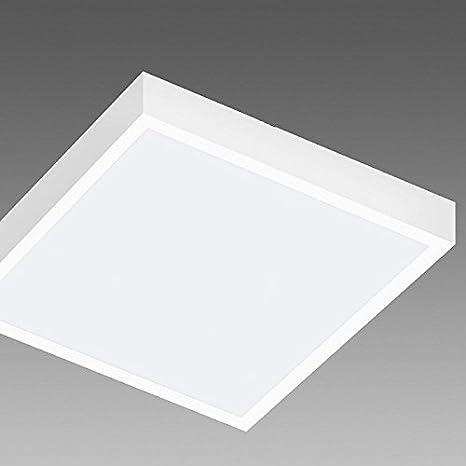 Lámpara de techo moderna cuadrada 30 x 30 cm LED 25 W luz ...