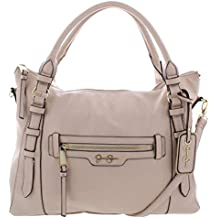 Jessica Simpson Womens Everly Faux Leather Convertible Tote Handbag