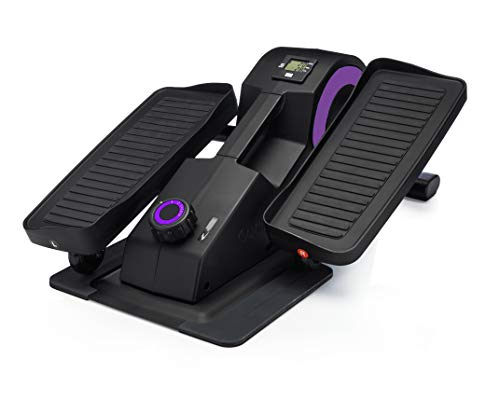 Cubii Jr: Desk Elliptical w/Built in Display Monitor, Easy Assembly, Quiet & Compact, Adjustable Resistance (Purple, One)