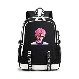 Mochila Casual Lil Peep Gaming Printed School Rucksack 15 Pulgadas Mochila Impermeable para Niño y Niña, Trabajo, Viajes…