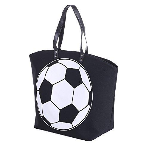 E-FirstFeeling Large Soccer Tote Bag Sports Prints Tote Soccer Mom Travel Bag (Soccer)