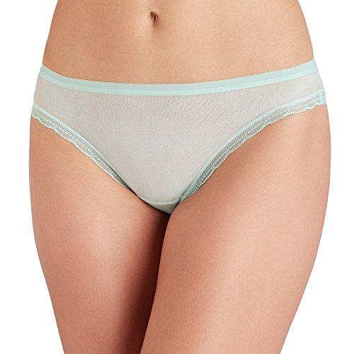 (OnGossamer Women's Intimate Apparel Next to Nothing Mesh Low-Rise Bikini Panty, Sweetgrass, Medium)