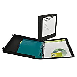 3 Ring Case Binder with Clipboard (Black)