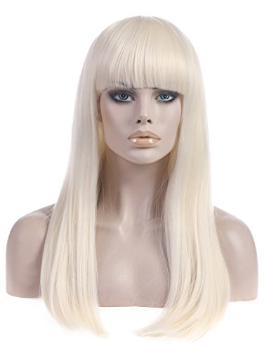 Lady Gaga Halloween Costume (SARLA Cosplay Wigs Costumes Party Hair Wigs Halloween Wigs (Lw014))