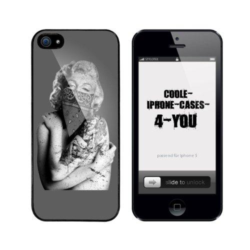 Iphone 5 / 5S Schutzhülle Tattooed Marilyn - schwarzer Rahmen