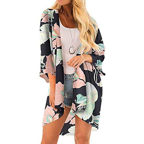 Cardigans For Womens, FORUU Half Sleeve Chiffon Printing Smock Kimono Blouse Tops 2019 Ladies Trendy New Arrival On Sale Under 10 Dollars Best Gift For Wife Summer Yoga Sport Beach -