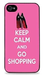 442 - Keep Calm and Go Shopping Louboutin Shoes - Black Hardshell Case for iPhone 5 / 5S - 442