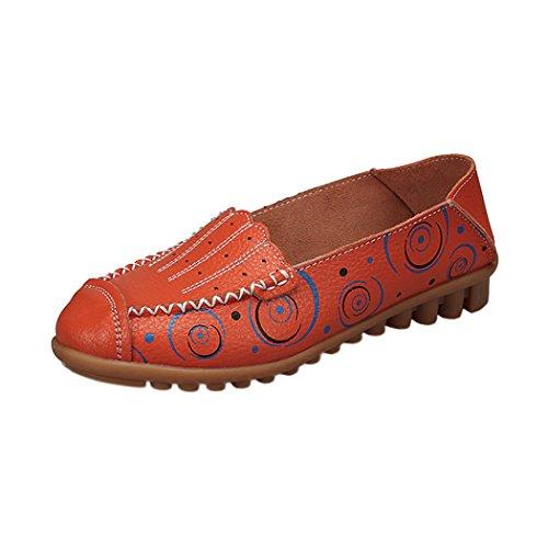 Fuibo , Mocassins pour femme - Orange - Orange,