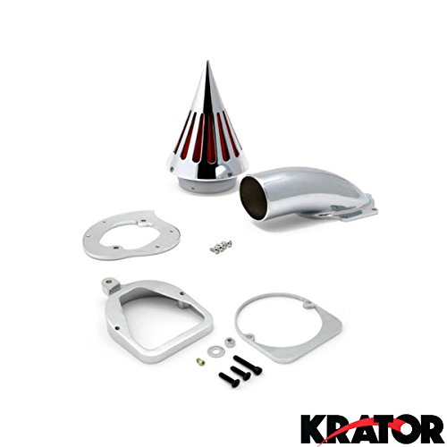 Krator Motorcycle Chrome Spike Air Cleaner Intake Filter For 1998-2004 Honda Shadow ACE 750