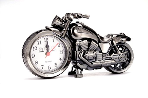 (Yvettevans Motorcycle Alarm Clock of Luxury Retro Style, Creative Artistic Motorbike Desk Clock, Excellent Gift for Kids, Motor Lovers)