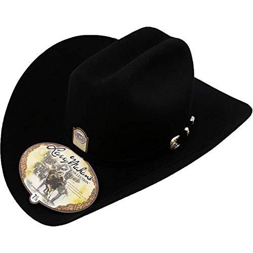 Larry Mahan 6X Real Fur Felt Cowboy Hat Black Size 7 5//8 Brim 3 1//2