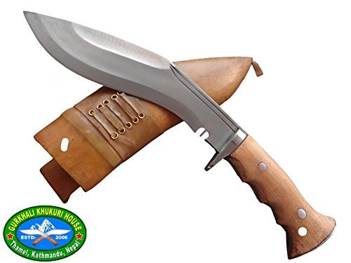 "Genuine Gurkha Hand Forged Kukri ,Blade Authentic Kukri-British Gurkha 8"" Iraqi Operation Gripper Blocker Handle Khukuri by GKHD"