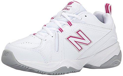 New Balance Womens WX608v4 Training Shoe, White/Pink, 43 W EU/9 W UK
