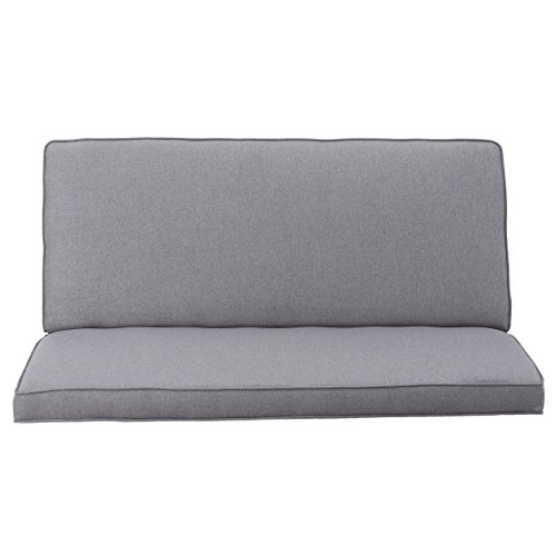 Christopher Knight Home 299748 Charlotte Light Grey Fabric Love Seat