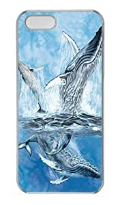 Find 11 Whale Tails Custom iPhone 5s/5 Case Cover Polycarbonate Transparent