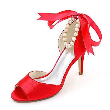 RTRY La Mujer Bomba Básica Wedding Shoes Primavera Verano Satin Boda &Amp; Noche De Perlas De Imitación Marfil Stiletto Talón Champagne Rubí Azul US9 / EU40 / UK7 / CN41