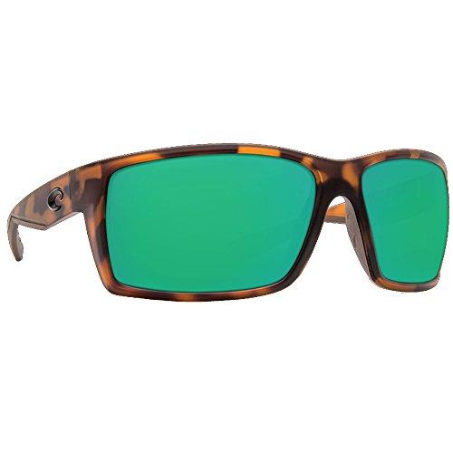 Costa Del Mar RFT66OGMGLP Reefton Sunglass, Matte Retro Tort Green - Sunglasses.com Costa