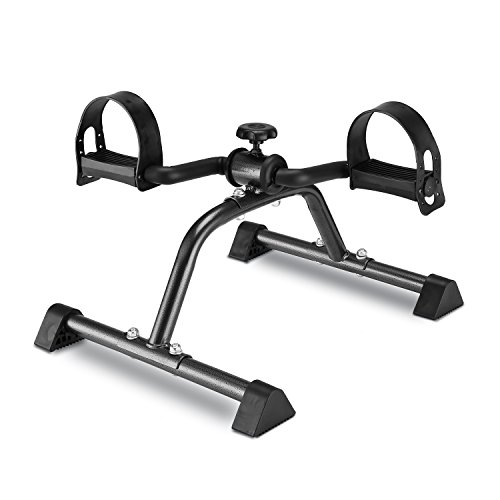 MOMODA Pedal Exerciser Mini Exercise Bike Foot Peddler for Leg and Arm Rehab -