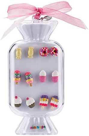 minihope Colorful Desserts Stud Earrings set for Kids Girls in Pretty Box