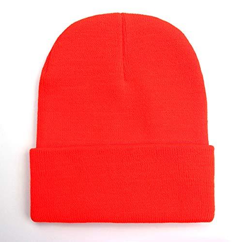 Warm Beanie de Knitted Mezclas 12 JFSH Solid Cap Men Soft Unisex Invierno Lana Otoño Women zwXvYnExvq